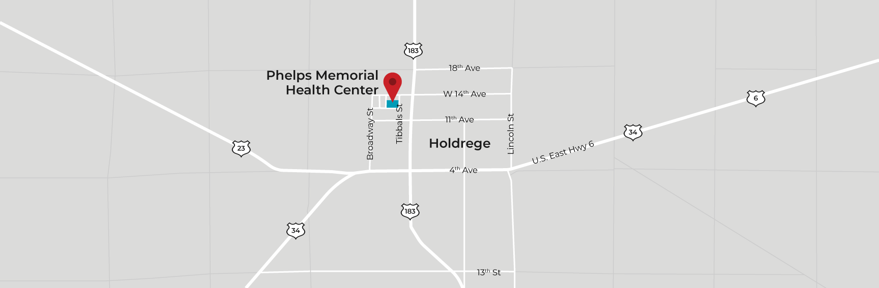 Map to Health Center